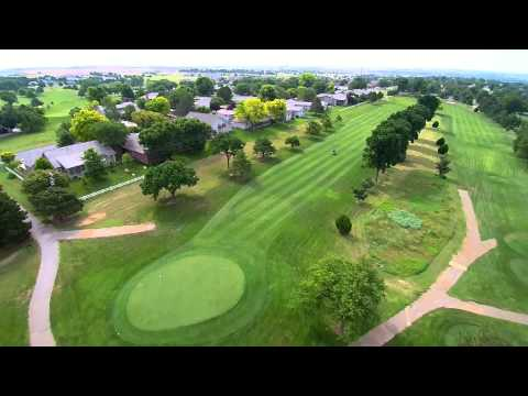 7 8 2015 Dodge City, Kansas drone golf course and legends park