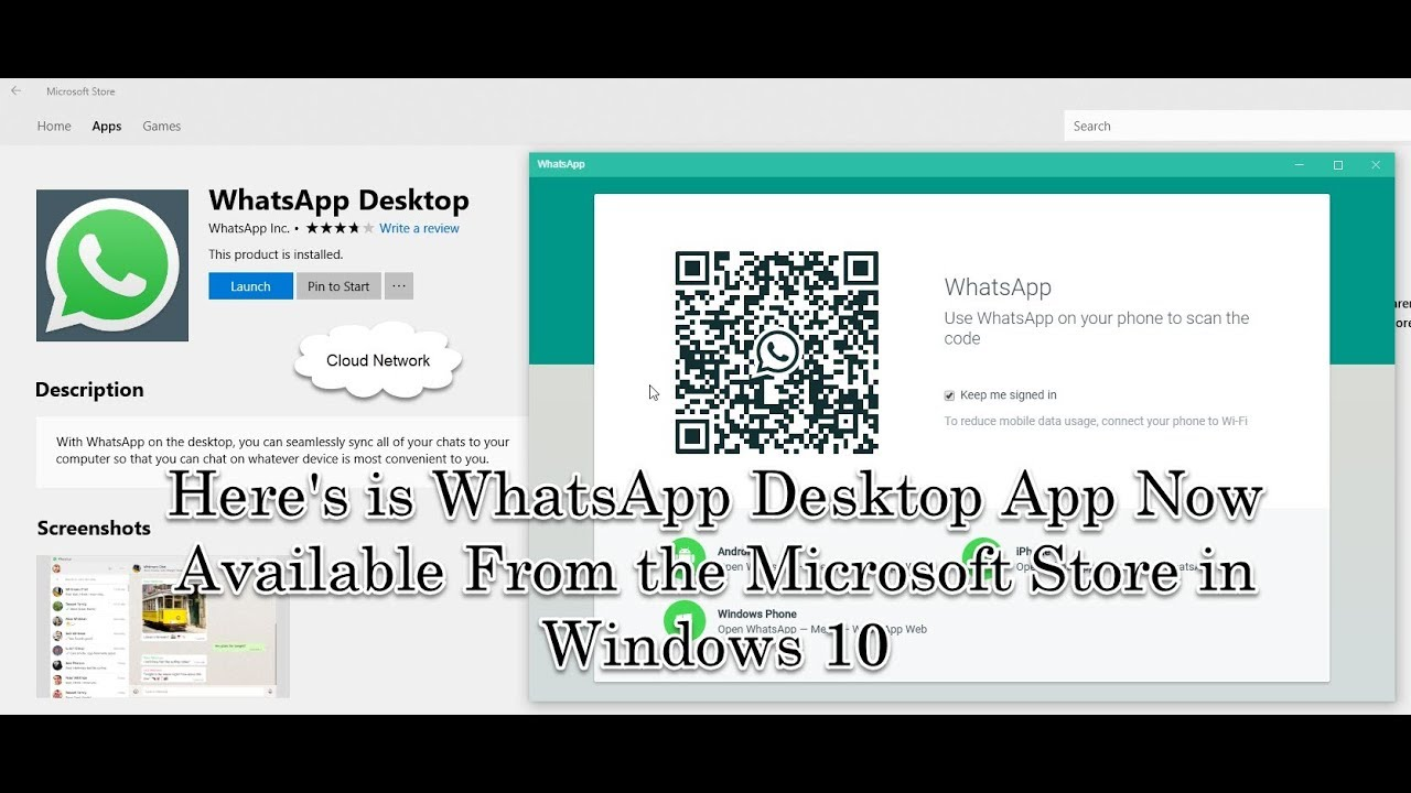 whatsapp desktop app windows 10
