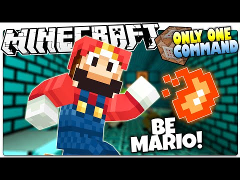 Minecraft | SUPER MARIO! | Fire Flowers, Stars, Mushrooms & More! (Minecraft Custom Command)