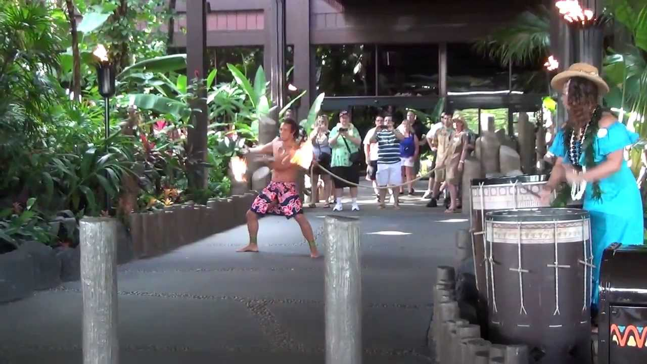 Disneyu0027s Polynesian Torch Lighting Ceremony & Disneyu0027s Polynesian Torch Lighting Ceremony - YouTube