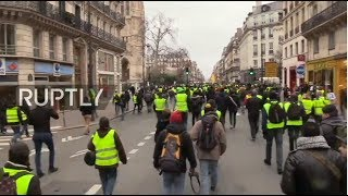 "LIVE: IX Yellow vest protest against Macron's policies ""Paris is ours"""