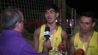 Victor e Saul campeões dos jogos de vólei de areia em Quixeré