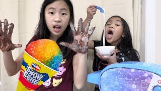 Pretend Play Food Cooking with NEW SNOW CONE