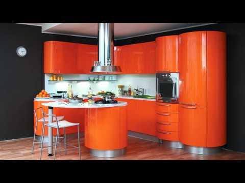 Оранжевая кухня: фото-идеи