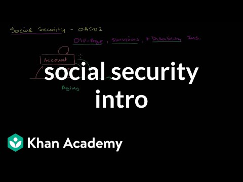 Social security intro | American civics | US History | Khan Academy
