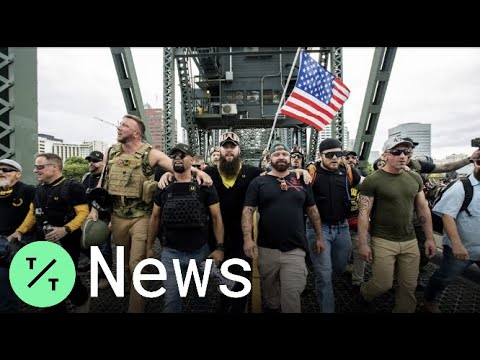Proud Boys Portland Rally Largely Peaceful but Clashes Downtown