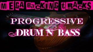 Progressive Drum N' Bass Guitar Backing Track (Bbm/Gm) | 60 bpm - MegaBackingTracks