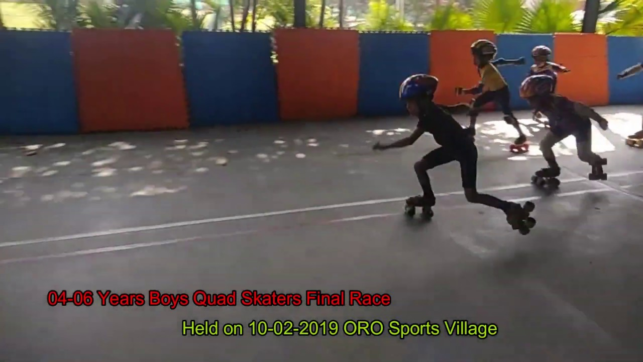 Boys Quad Skaters 04-06 Years Age Group Final Race