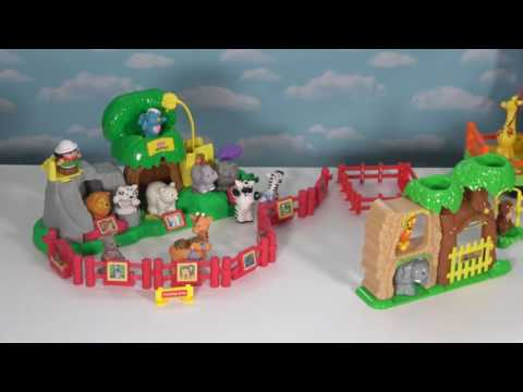ZOO Playset - Fisher Price Zoo Toys - Little People Choo-Choo Musical Zoo Train