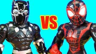 RC Mega Mighties Battle | Spider-man Vs Kid Arachnid Vs Black Panther Vs Hulk