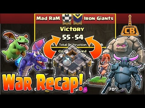 TH8 GoVaPe(ing) TH10?! - War Recap - Mad RaM vs Iron Giants - Clash of Clans