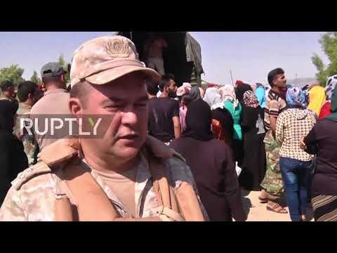 Syria: Al-Rastan receives Russian humanitarian aid along reopened Hama-Homs highway