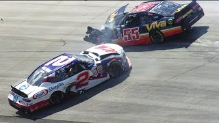 Wild crash after Scott, Blaney collide