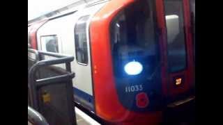The 2009 Stock London Underground Victoria Line Departing Oxford Circus Station for Brixton Station
