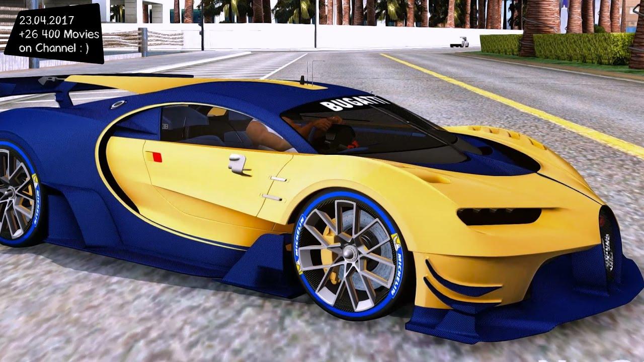 bugatti vision gt new enb top speed test gta mod future - youtube