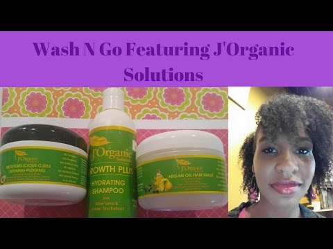 Wash N Go Tutorial Anthony Dickey Method featuring J'Organic Solutions