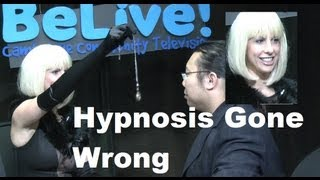 Hypnosis gone wrong! Lady Hypnotist turns a man into a woman 女催眠術師