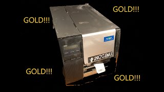 Scrapping an Industrial UPC label printer for FREE GOLD and Scrap Metal! -Moose Scrapper