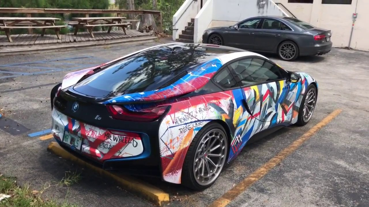 Crazy Wrapped Painted Bmw I8 X Vossen Forged Lc 2 4k Youtube