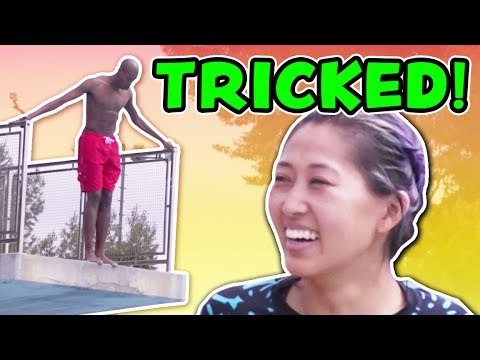 YOUTUBERS TRICKED INTO HIGH DIVING (Cell Outs)