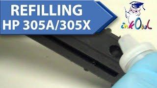 How to Refill HP 305A, 305X Cartridges for M351a, M375nw, M451dn, M451dw, M451nw, M475dn, M475dw