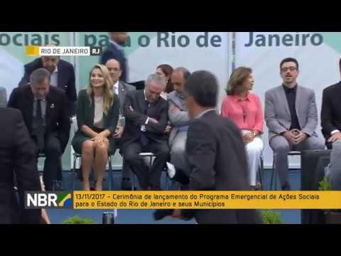 4477dd08a Presidente Michel Temer lança Programa Emergencial de Ações Sociais para o  Rio de Janeiro