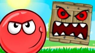 RED BALL 4 КРАСНЫЙ ШАР против ЗЛОГО черного КВАДРАТА приключение мульт героя видео для детей #Малыш