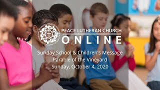 Sunday School | October 4, 2020