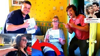 SURPRISING My FAMILY WITH GREASE THEATRE SHOW TICKETS!! *HAPPY*