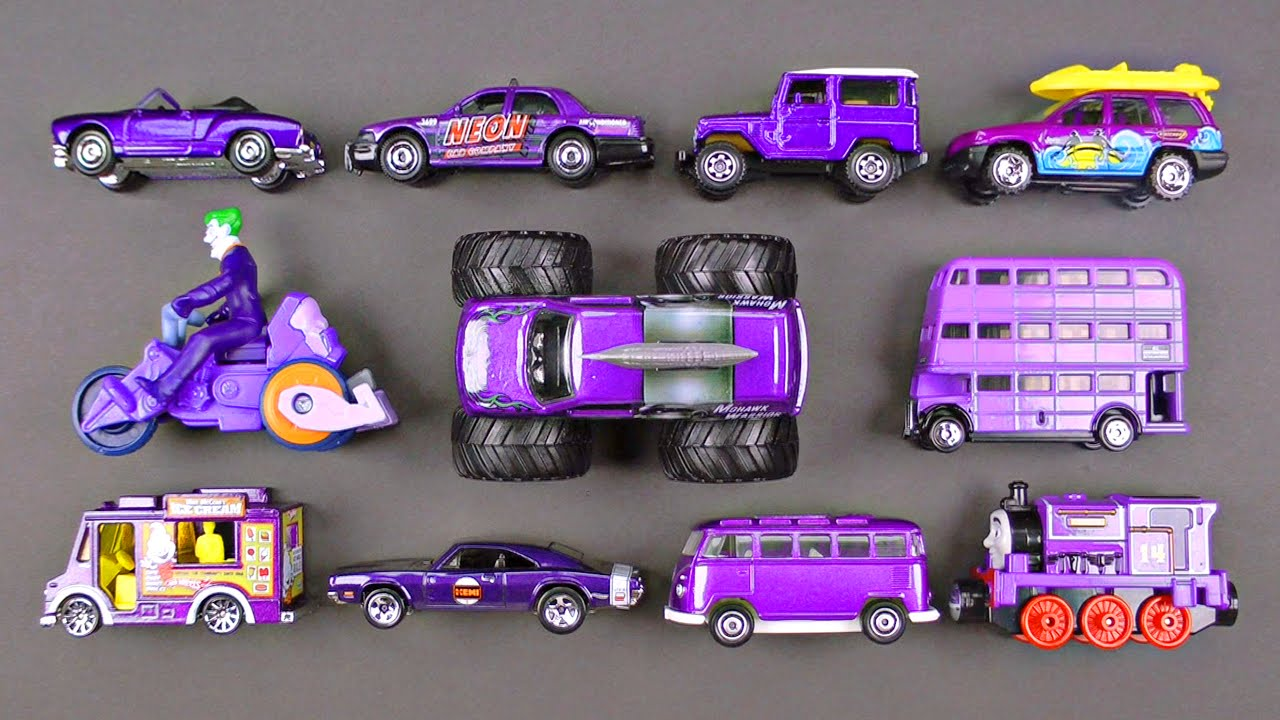 learning purple street vehicles for kids cars and trucks