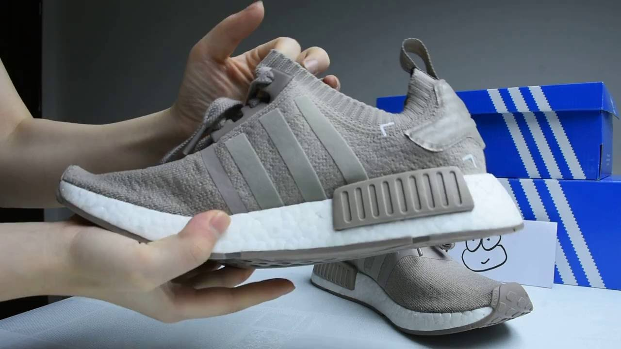 f862ebda5 2016 Nmd Pk Vapour Grey French Beige Close Up Review - YouTube