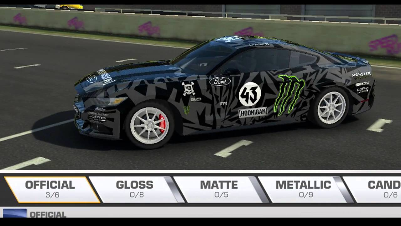 Real racing 3 2015 ford mustanggt skinsmod