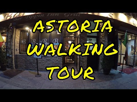⁴ᴷ Walking Tour of Astoria, Queens, NYC - Broadway from Steinway Street to Crescent Street