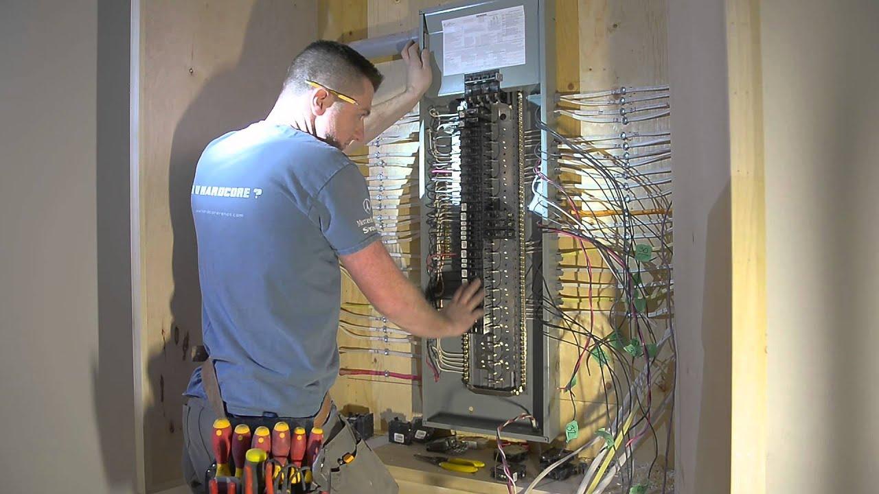 finalizing the siemens electrical panel episode 234 hardcore renos [ 1280 x 720 Pixel ]