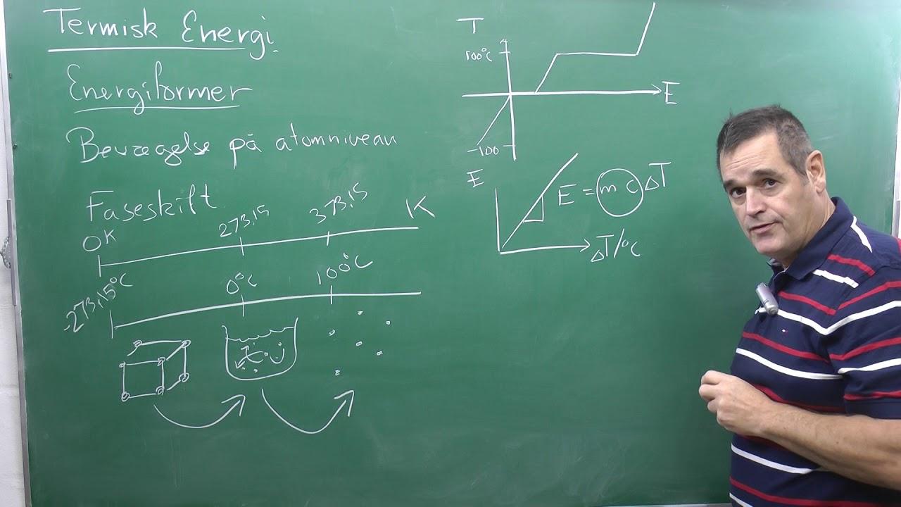 Eksamensoplæg, fysik B Termisk energi, temperatur, faser og energiændringer