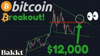 BITCOIN BREAKING OUT TO $12,000!!! | BAKKT LAUNCH VERY SOON!