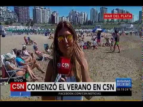 C5N - Verano 2017: Mañana de playa en Mar del Plata