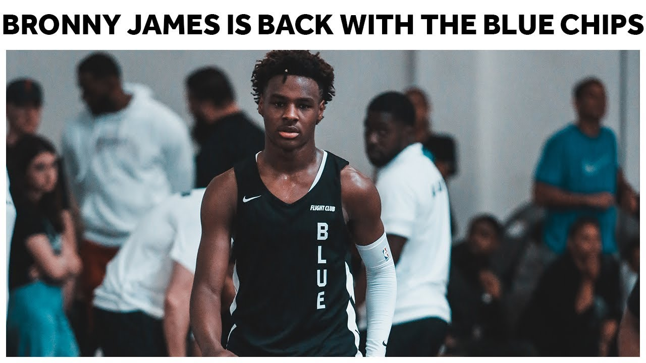 wholesale dealer b5a9f 84368 Bronny James Is BACK With The Blue Chips - Full Highlights