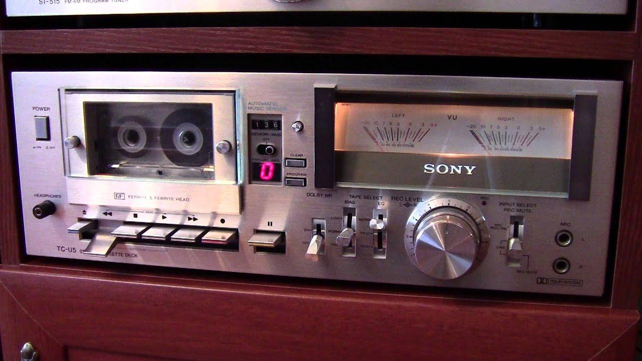 Sony Tc-u5 Stereo Cassette Deck