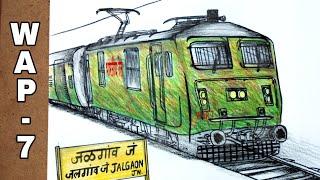 #traindrawing #howtodraw Duronto Express skipping jalgaon junction | Artist Munda
