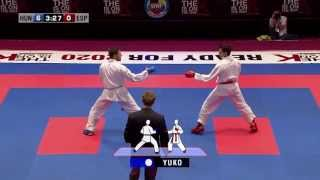 Adam S.Kovacs vs. Manuel Rasero. Bronze Male Kumite -67kg. 48th European Karate Championships 2013