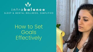 How to Set Goals Effectively