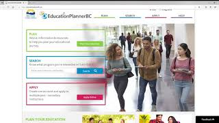 EducationPlannerBC Website Tutorial
