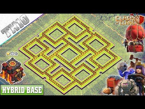 NEW BEST TH10 Base 2019 with REPLAY | TH10 Farming/Trophy Base - Clash of Clans