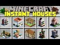 Minecraft INSTANT HOUSES MOD l SPAWN INSTANT HOUSES & BASSES IN SECONDS! l Modded Mini-Game