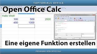 Eine eigene Funktion erstellen ganz leicht (OpenOffice Calc)
