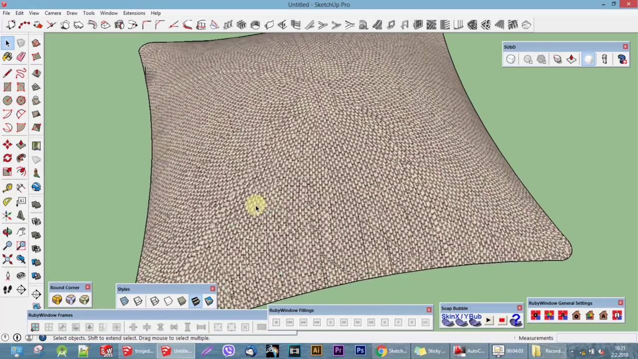 How to make a pillow in Google SketchUp - YouTube 46c708d53