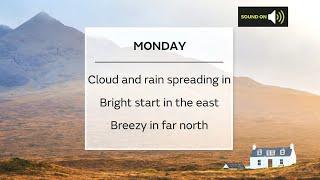 Monday Scotland weather forecast 20/09/21