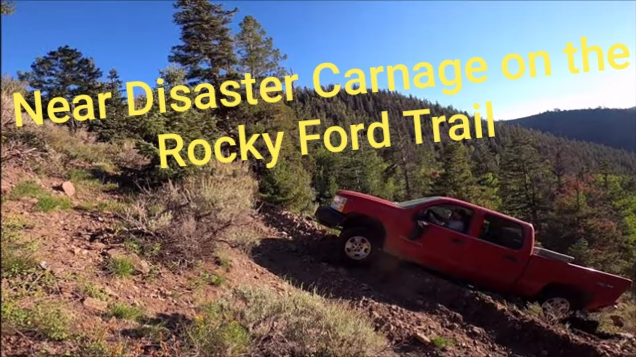 Near Disaster on a Steep Mountain Trail. Off Road Recovery Fail?