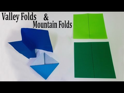 Origami Basics - Valley Folds And Mountain Folds Tutorial - YouTube